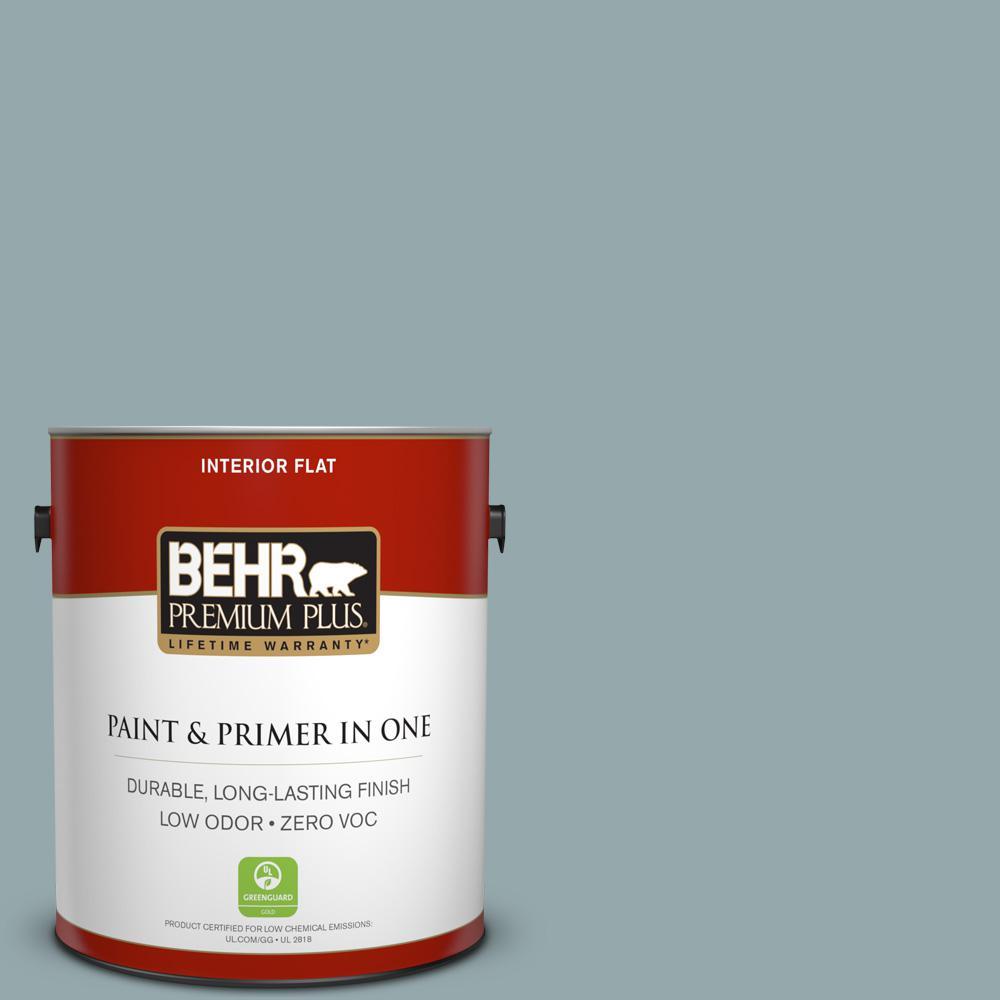 BEHR Premium Plus 1-gal. #N470-4 Nor'Wester Flat Interior Paint