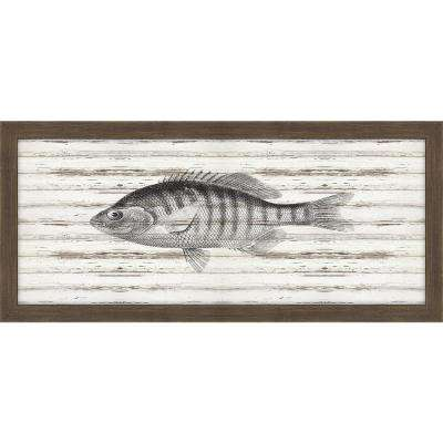 """22 in. x 10 in. """"Perch on Driftwood"""" Framed Giclee Print Wall Art"""
