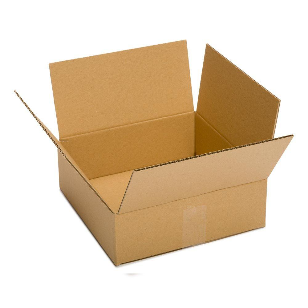 Plain Brown Box 10 in. x 10 in. x 4 in. 25-Box Bundle