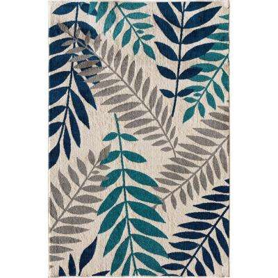 Patio Brights Blythewood Sapphire 8 ft. x 10 ft. Indoor/Outdoor Area Rug