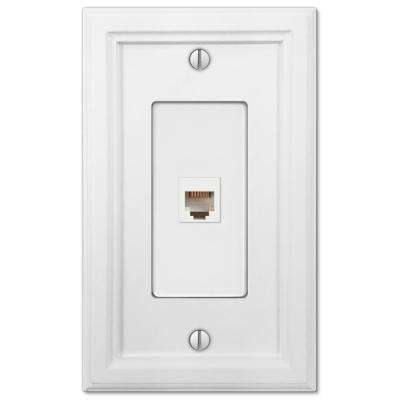 Elly 1 Phone Wall Plate, White