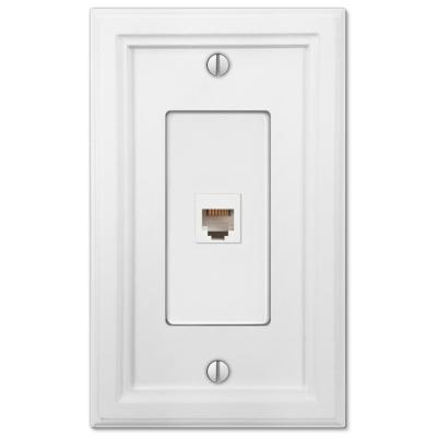 Elly 1 Gang Phone Composite Wall Plate - White