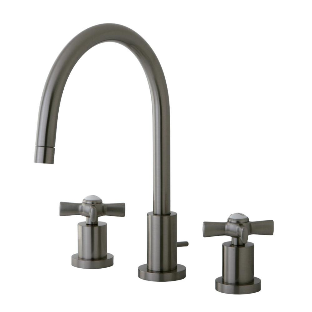 Kingston Brass Millennium 8 in  Widespread 2 Handle Bathroom Faucet in  Brushed Nickel. Kingston Brass Millennium 8 in  Widespread 2 Handle Bathroom Faucet