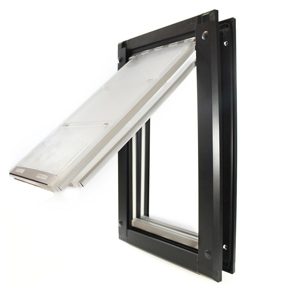 Endura Flap 6 in. x 10 in. Small Double Flap for Doors with Dark ...