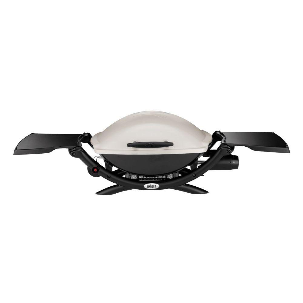 Q 2000 1-Burner Portable Propane Gas Grill in Titanium