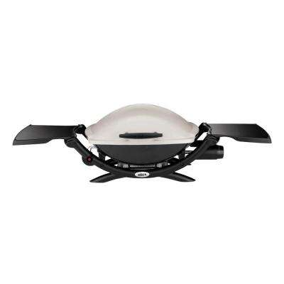 Q 2000 1-Burner Portable Propane Gas Grill in Titanium