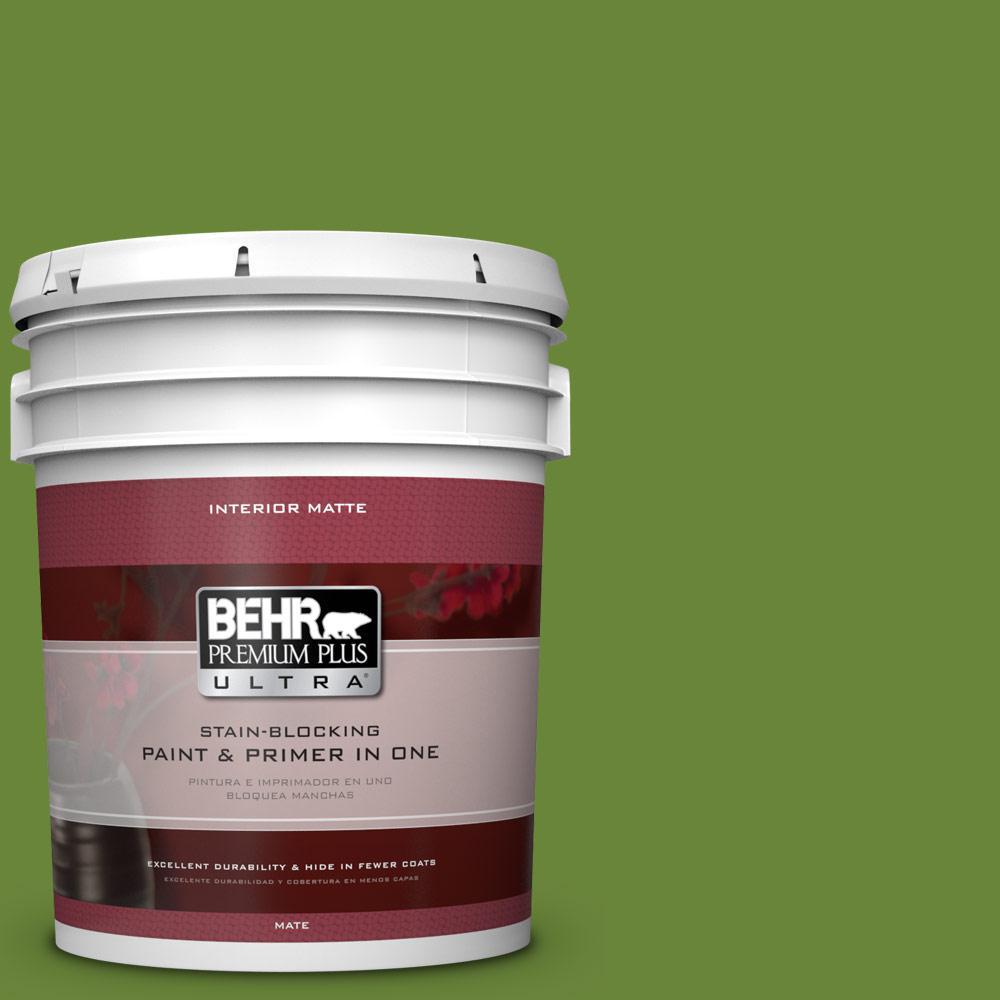 BEHR Premium Plus Ultra 5 gal. #P370-7 Sun Valley Matte Interior Paint