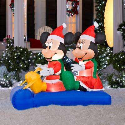 inflatable mickey and minnies sled scene