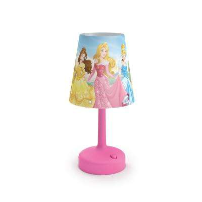 Beautiful Indoor Portable Table Lamp With Princess Shade