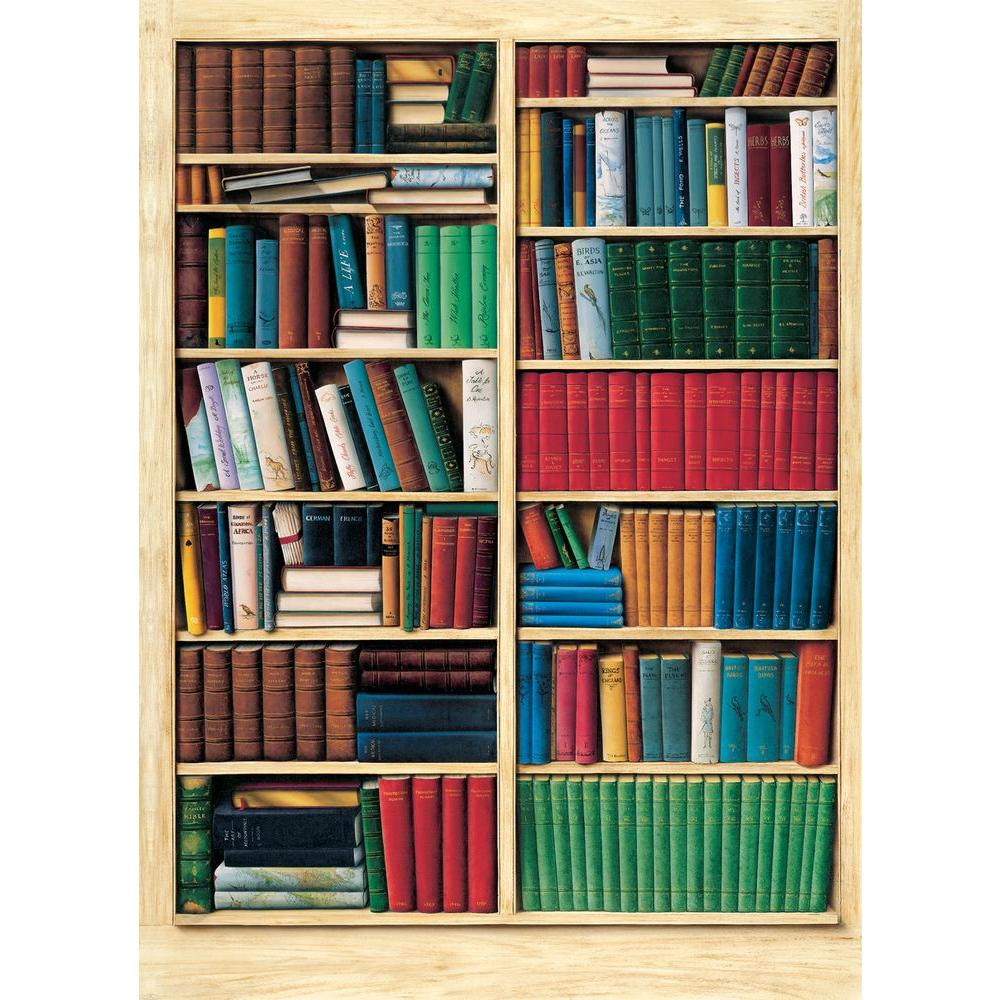 Ideal Decor 100 in. x 72 in. Biblioteque Wall Mural