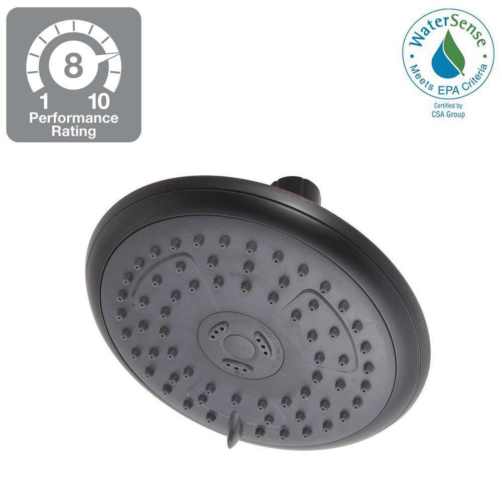 Porter 3-Spray 6 in. Fixed Shower Head in SpotShield Oil Rubbed