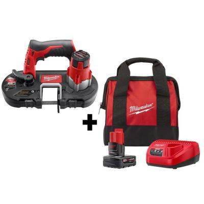 Milwaukee M12 12V Cordless Sub-Compact Band Saw Kit + Battery & Charger