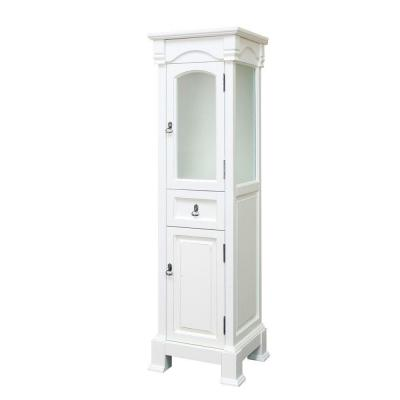 Bloomfield 18 in. W x 65 in. H x 17 in. D Bathroom Linen Storage Floor Cabinet in White