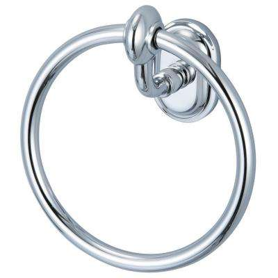 Glass Series Towel Ring in Triple Plated Chrome