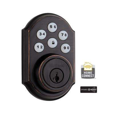 Z-Wave SmartCode 910 Venetian Bronze Single Cylinder Electronic Deadbolt featuring SmartKey