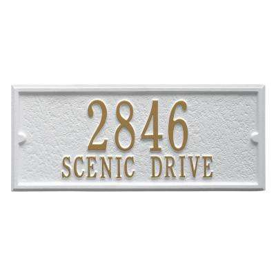 Mailbox Side Panel in White/Gold