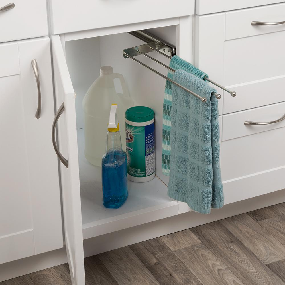 Real Solutions for Real Life Real Solutions Pull-Out Kitchen Towel Holder  Bar