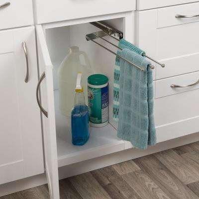 Real Solutions Pull Out Kitchen Towel Holder Bar