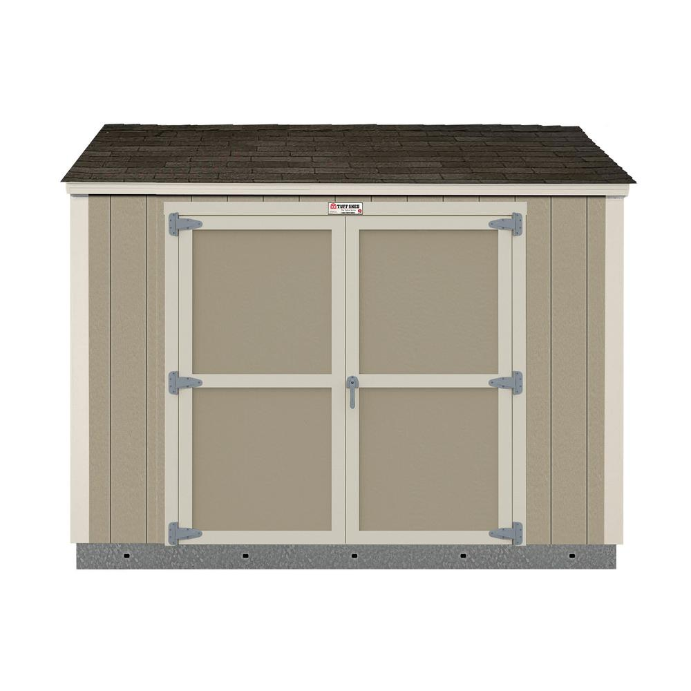 Tuff Shed Installed The Tahoe Series Lean-To 6 ft. x 10 ft. x 8 ft. 3 in. Painted Wood Storage Shed, Browns / Tans -  1002277