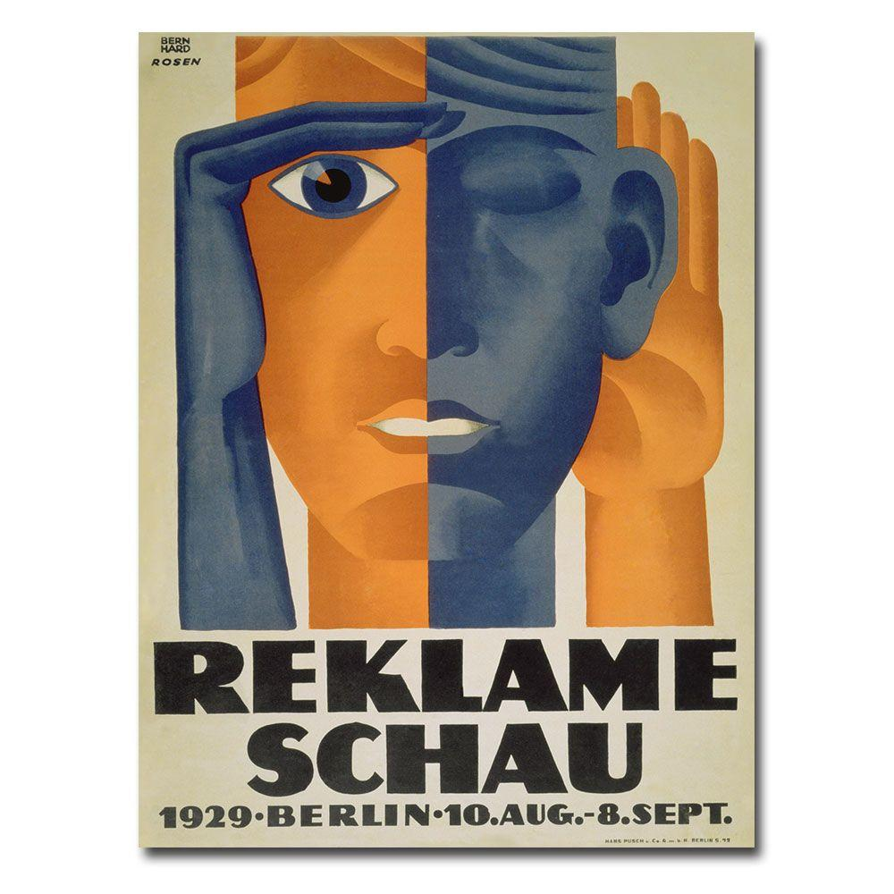 Trademark Fine Art 24 in. x 32 in. Reklameschau 1929 Canvas Art