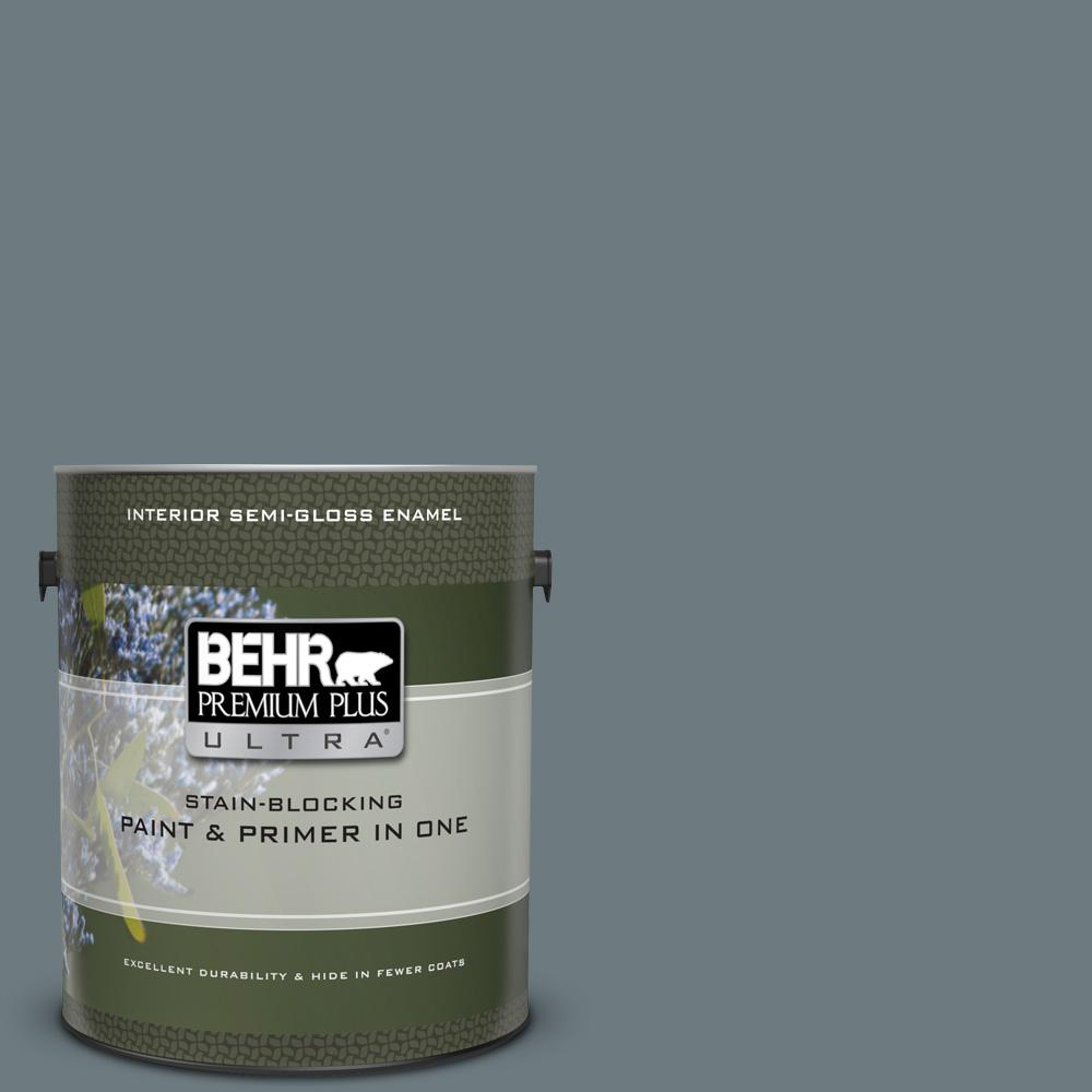 #PPU25-19 Ocean Swell Semi-Gloss Enamel Interior Paint and Primer in One & BEHR Premium Plus Ultra 1 gal. #PPU25-19 Ocean Swell Semi-Gloss ...