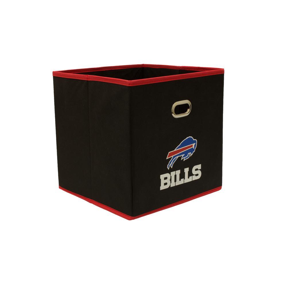 Buffalo Bills NFL Store-Its 10-1/2 in. W x 10-1/2 in. H x 11 in. D Black Fabric Drawer