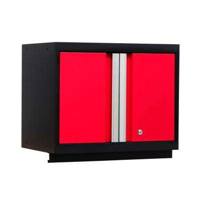 Bold Series 24 in. W x 18 in. H x 12 in. D 24-Gauge Steel Wall Cabinet in Red