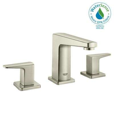 Widespread Two Handle Bathroom Faucet In Brushed Nickel Infinity Finish