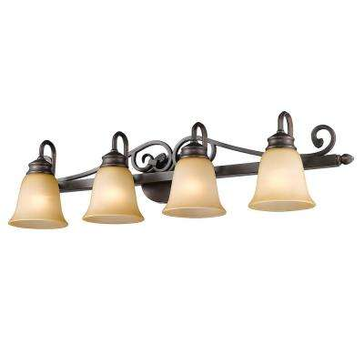 Belle Meade Collection 4-Light Rubbed Bronze Bath Vanity Light