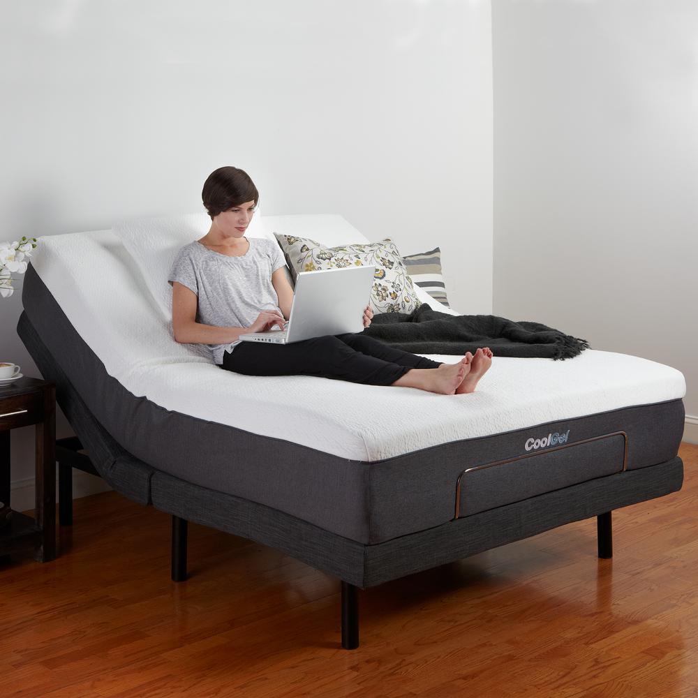 Adjustable Size Adjustable Bed Base Black Image