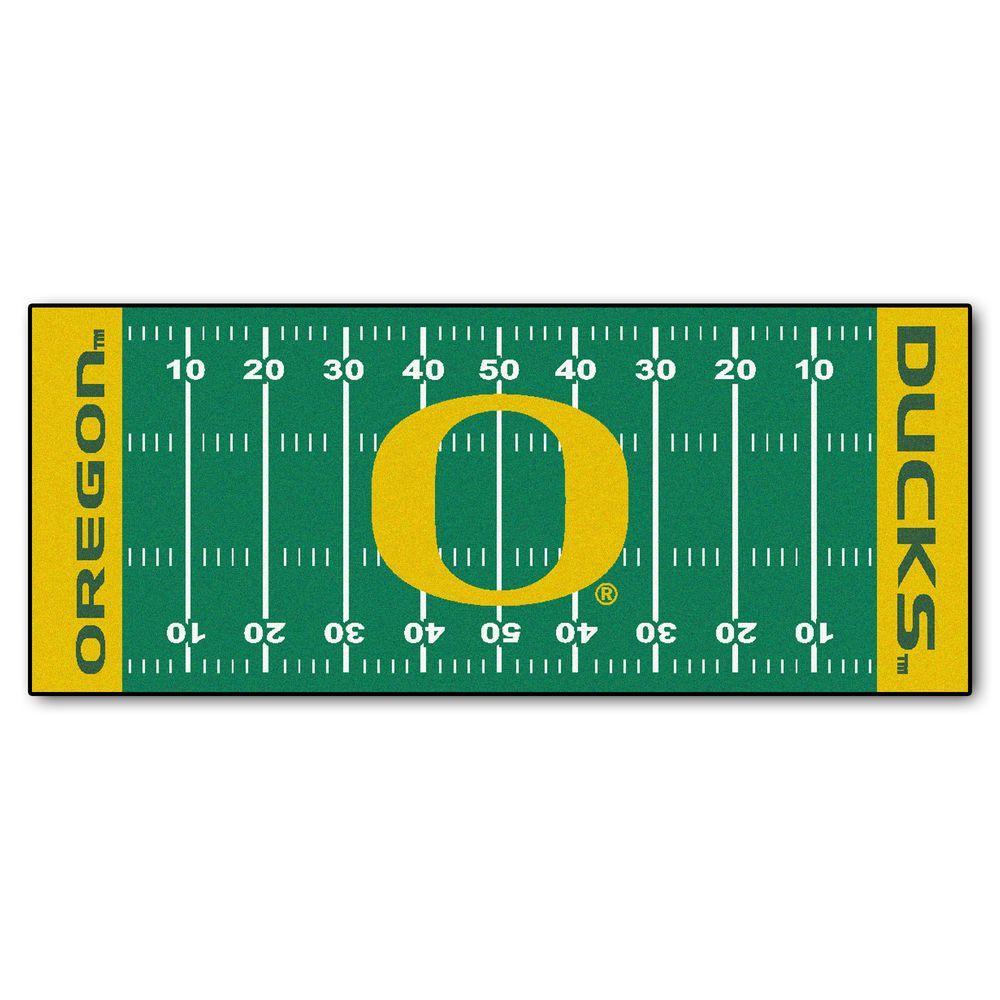 University of Oregon 3 ft. x 6 ft. Football Field Rug Runner Rug