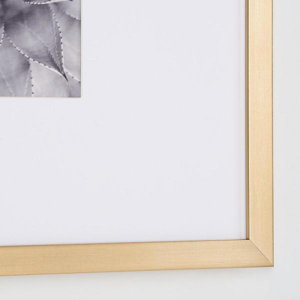 StyleWell - StyleWell Gold Frame with White Matte Gallery Wall Picture Frames (Set of 4)
