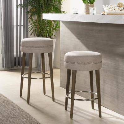 Vesper 26 Round Counter Height Bar Stool, Country Grey