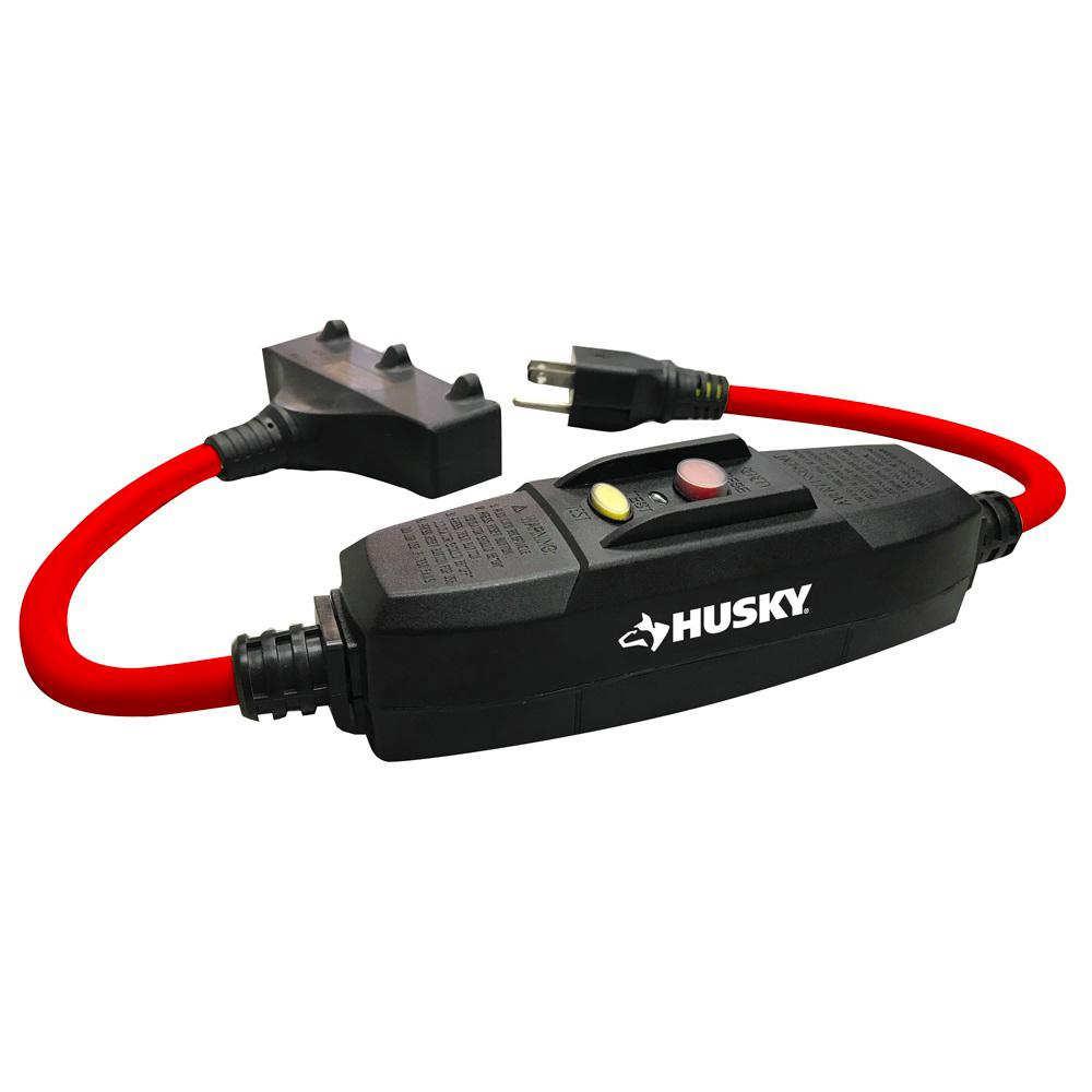 Husky 15 Amp In-Line GFCI with Power Block