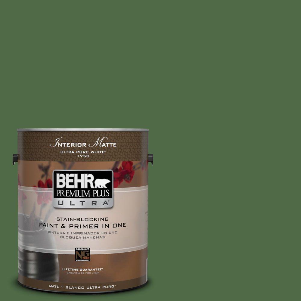 1 gal. #M400-7 Garden Cucumber Matte Interior Paint