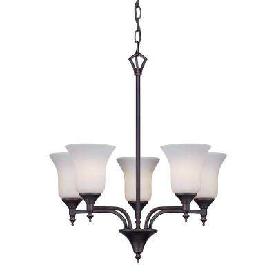 5-Light Antique Bronze Chandelier