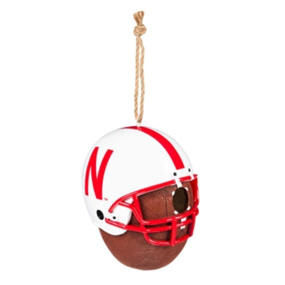 University of Nebraska 6.5 in. x 7.5 in. x 8 in. Polystone Hat/Helmet Ball Birdhouse