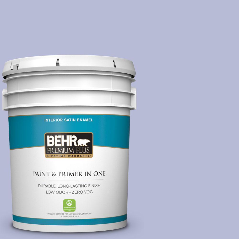 BEHR Premium Plus 5-gal. #S540-2 Violet Vision Satin Enamel Interior Paint