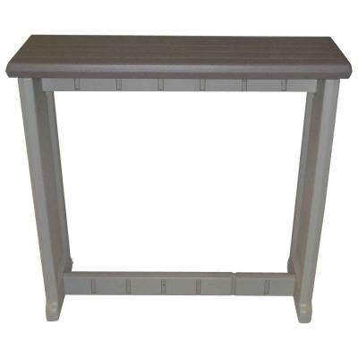 Rectangle bar height tables outdoor bar furniture the home depot resin patio bar watchthetrailerfo