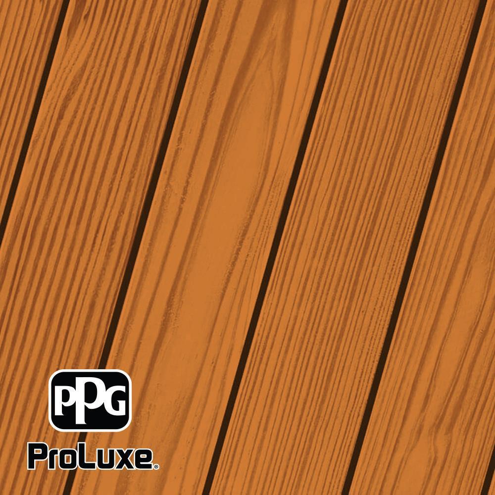 PPG ProLuxe 1 Gal. #HDG-ST-216 Natural Cedar SRD Exterior Semi-Transparent Matte Wood Finish