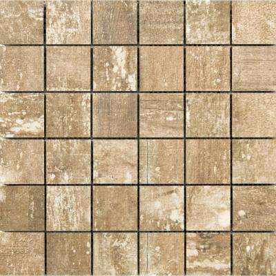 Ranch Lodge Matte 11.81 in. x 11.81 in. x 9mm Porcelain Mesh-Mounted Mosaic Tile (0.97 sq. ft.)