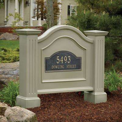 Nantucket 32 in. x 40 in. Plastic Address Sign
