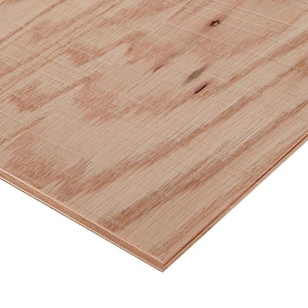 3/4 in. x 2 ft. x 8 ft. Rough Sawn Red Oak Plywood Project Panel