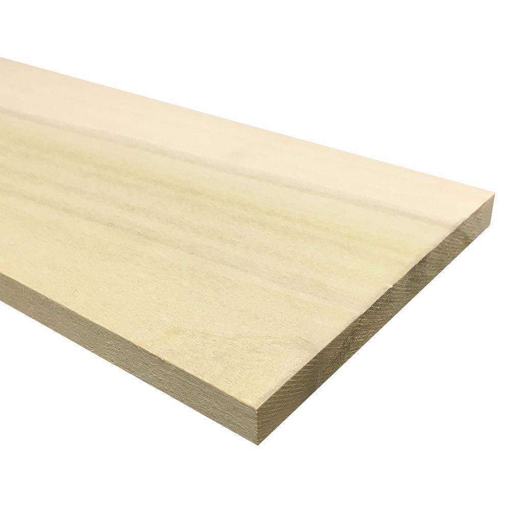 Poplar Board (Common: 1 in. x 12 in. x R/L; Actual: 0.75 in. x 11.25 in. x R/L)