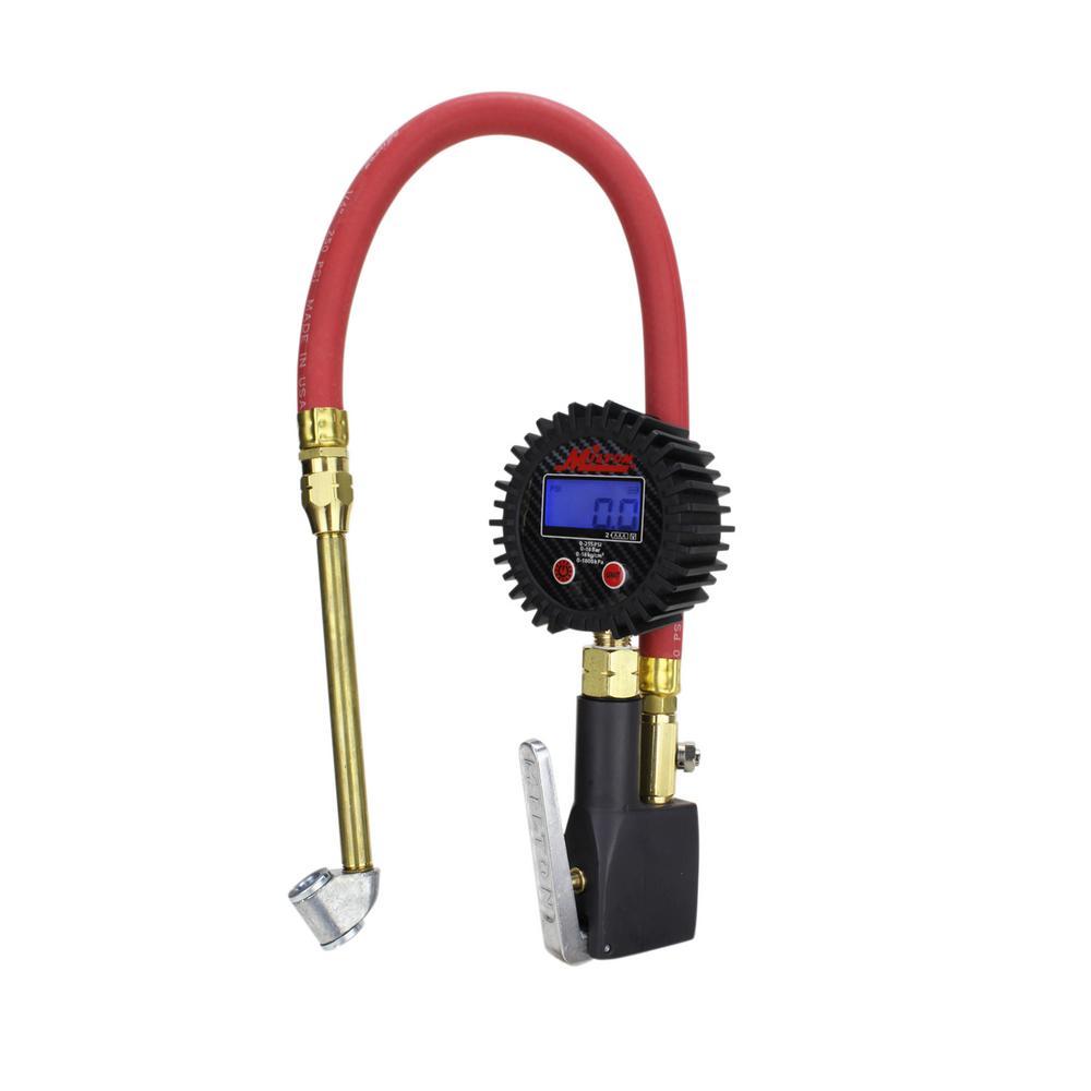 """1//4/"""" Tyre Inflator /& Pressure Gauge Heavy Duty Air Line Hose Car Hand Tool"""