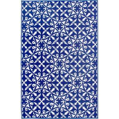 San Juan Indoor/Outdoor Dark Blue 4 ft. x 6 ft. Area Rug