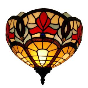 Amora Lighting Tiffany Style Victorian Design Wall Lamp by Amora Lighting
