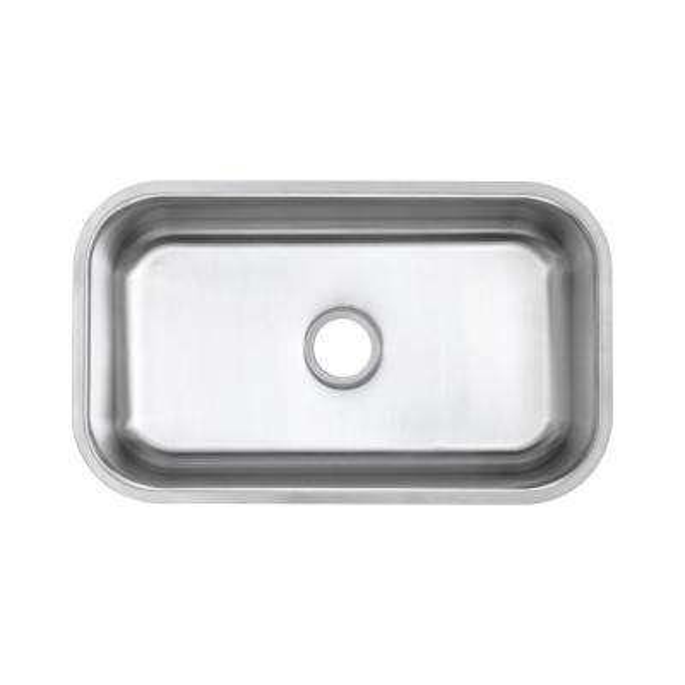 Undermount 18-Gauge Stainless Steel 30 in. 0-Hole Single Bowl Kitchen Sink