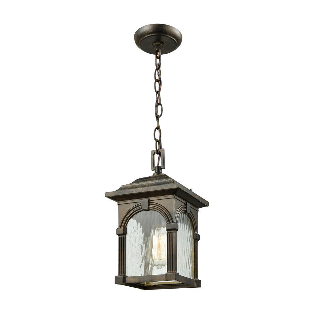 Stradelli Hazelnut Bronze 1-Light Outdoor Hanging Pendant