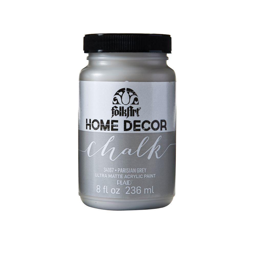 FolkArt Home Decor 8 oz. Parisian Grey Ultra-Matte Chalk Finish Paint by FolkArt